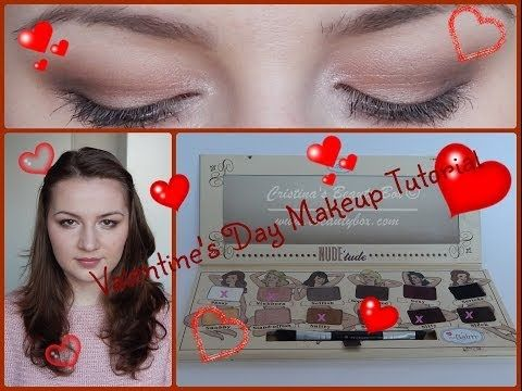Open me!   Hey guys!  I decided to use the theBalm Nude'tude palette to create this Valentine's Day Makeup Look because the colors are just perfect for this occasion. This is definitely something I would wear on Valentine's Day and I hope you like the final result.   xoxo, Cristina P.S. Sorry for the small audio-video synchronization problems in some parts of the video, but my editing software didn't want to cooperate...  Swatches of the shadows used…
