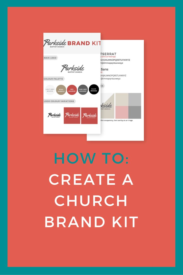 You know when you receive a million questions from different people asking what font you used or which colour is that? A simple solution to all of these questions is to put together a simple brand kit that has all of that information inside. In this post, we talk about putting together your own brand kit for your church using Canva. Click to read now or pin to save for later.