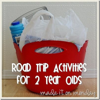 Road Trip Activities for 2-Year-Olds