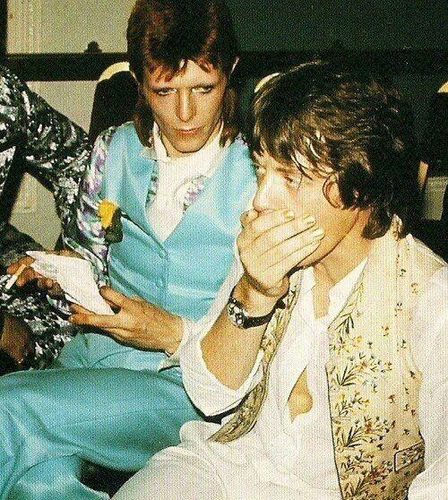 David Bowie y Mick Jagger (Chelsea-Londres)