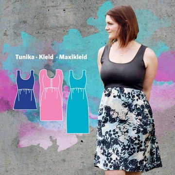 DANDELION DRESS - Schnittmuster Größe 34-50 - Nähanleitungen bei Makerist