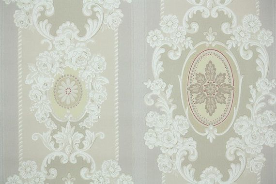 1940s Vintage Wallpaper by the Yard Lovely Ivory Cream