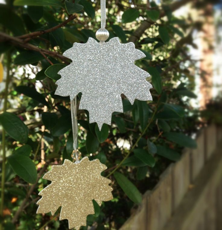 a glittery leaf for your tree....