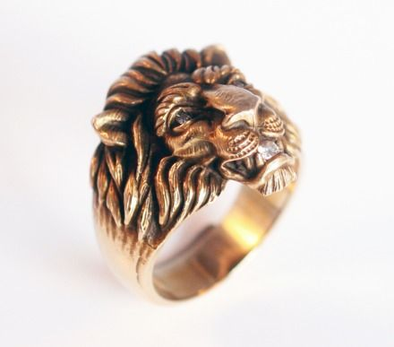 1905 Diamond Set Lion Ring