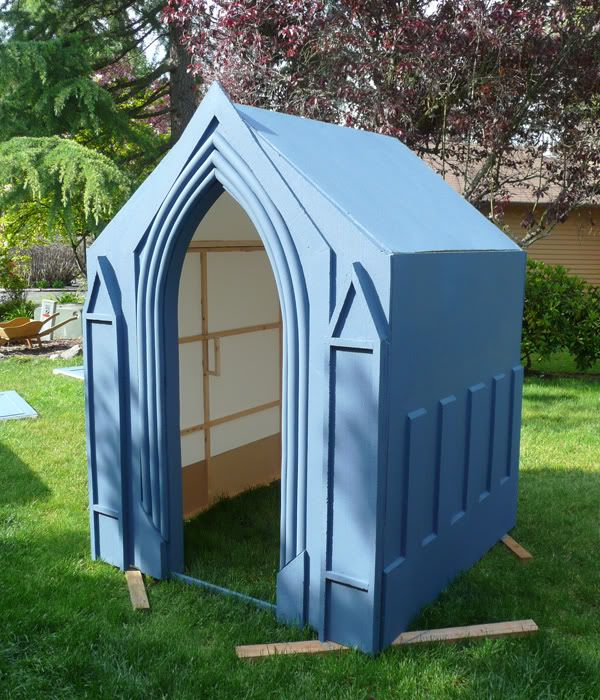 Building My Mausoleum or... (How I learned to stop building heavy props and embrace the light weight world of styrofoam.)