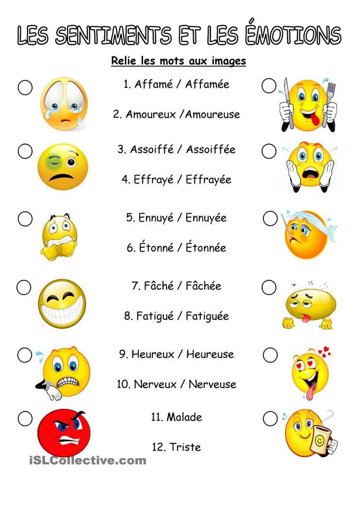 Les sentiments et les émotions                                                                                                                                                                                 Plus
