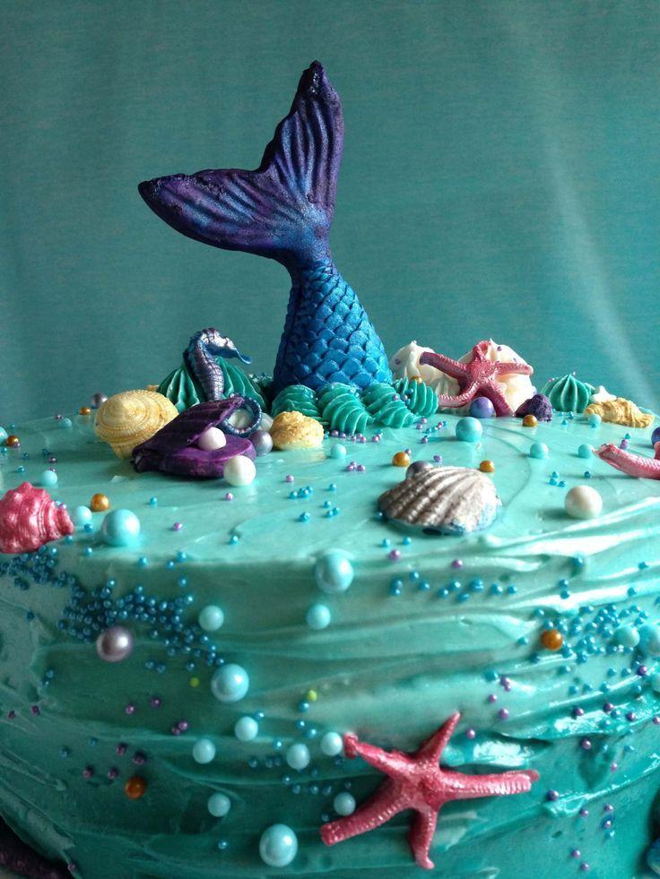 How To Make An Easy Mermaid Cake Mermaid Birthday Cakes