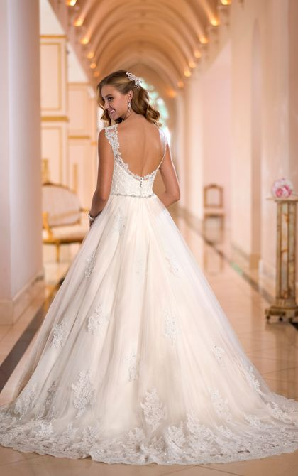 Beautiful back and train! Wedding Dresses | Wedding Dresses with Lace | Stella York