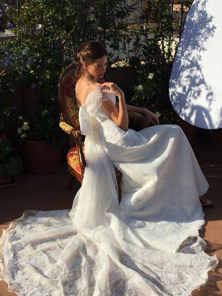 #acconciatura sposa @bartorelli shooting per Antonella Rossi Vogue sposa 2015