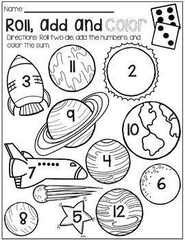 Solar System No Prep Math Packet, #