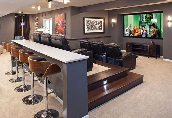 50+ Home Theater Room Ideas_19