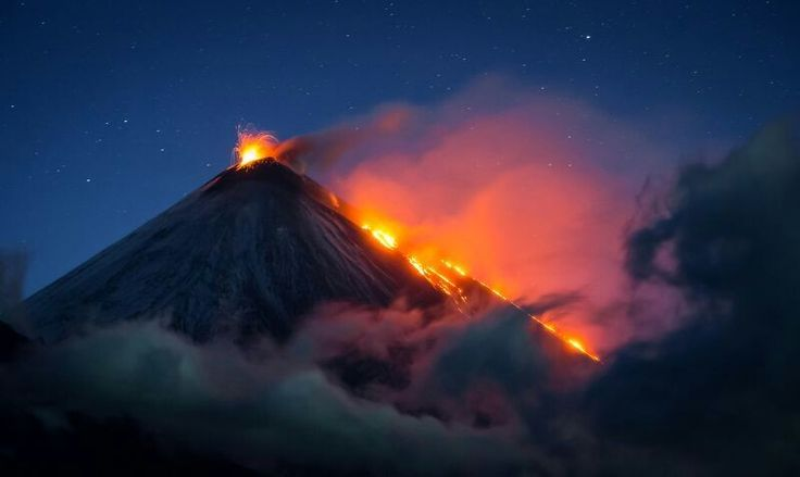 DECEMBER 11, 2017LIGHT UP THE NIGHT  Klyuchevskaya Sopka is a volcano in Russia that stands more than 15,000 feet tall. The volcano has been active since at least 1697, when an eruption was first recorded.  PHOTOGRAPH BY VLADIMIR VOYCHUK,