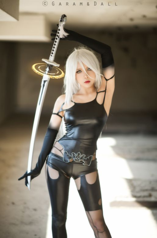 Cosplayer: ruby J Character: A2 Video Game: NieR:Automata