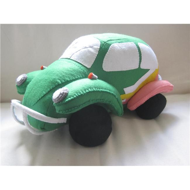 My VW Baja Bug (VW Beetle customised) felt 3D soft sculpture as featured on the Homecrafts website