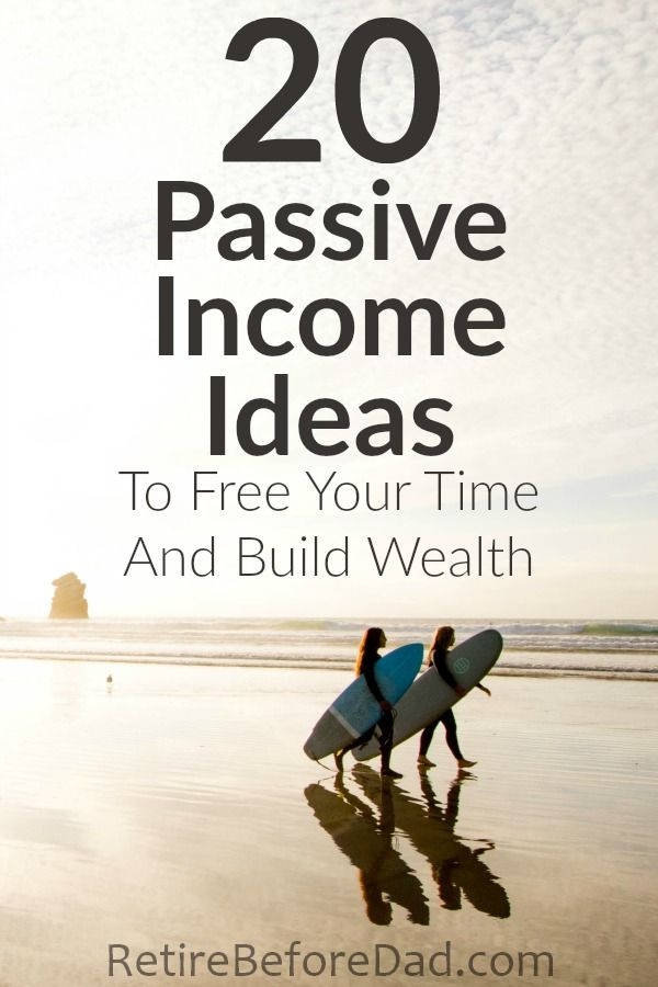 Wealthy people build wealth not by exchanging time for money, but by investing their money and time into income producing assets and business ideas that earn a return. Here are 20 passive income ideas for your consideration so you can free your time and build wealth.