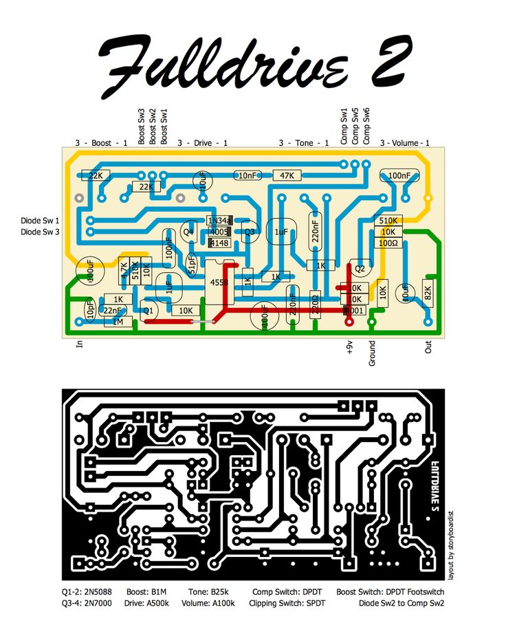 120 best Schematic images on Pinterest | Bass, Guitar pedals and ...