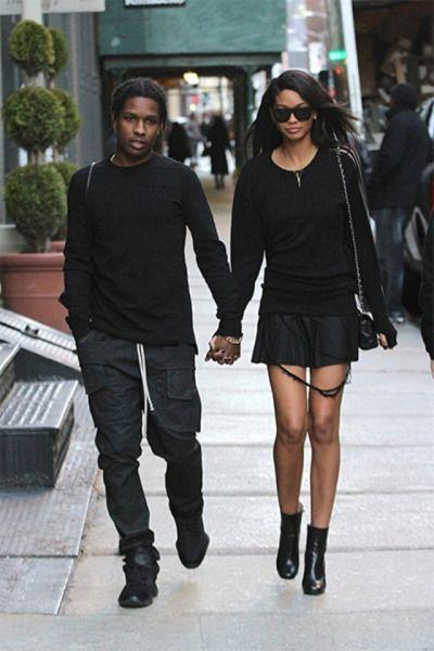 ASAP Rocky & Chanel Iman 😍