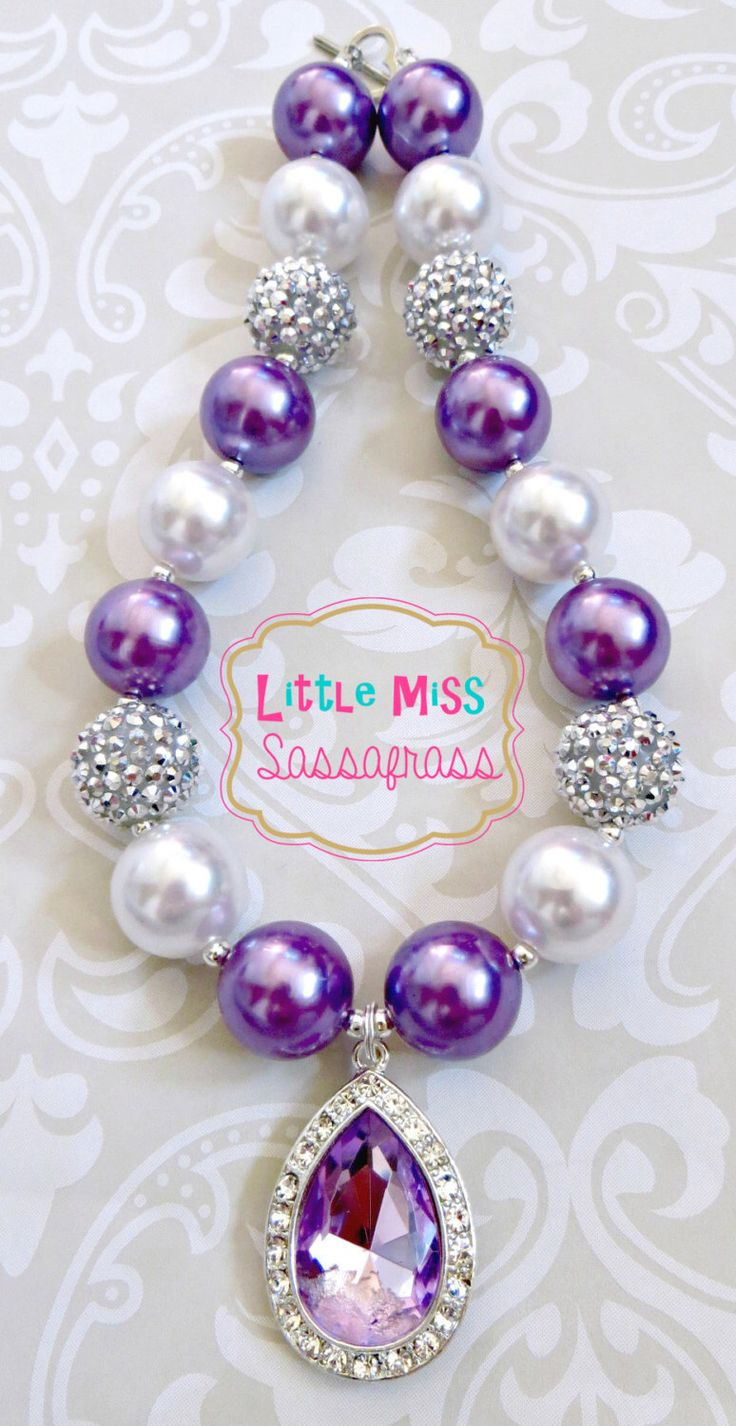 Princess Sofia Amulet Chunky Bubblegum Necklace by lilmisssassafras on Etsy https://www.etsy.com/listing/184812998/princess-sofia-amulet-chunky-bubblegum