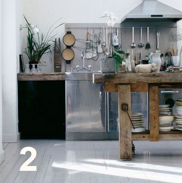 Industrial Style Kitchen Island: Feel At Home - Industrial Kitchen