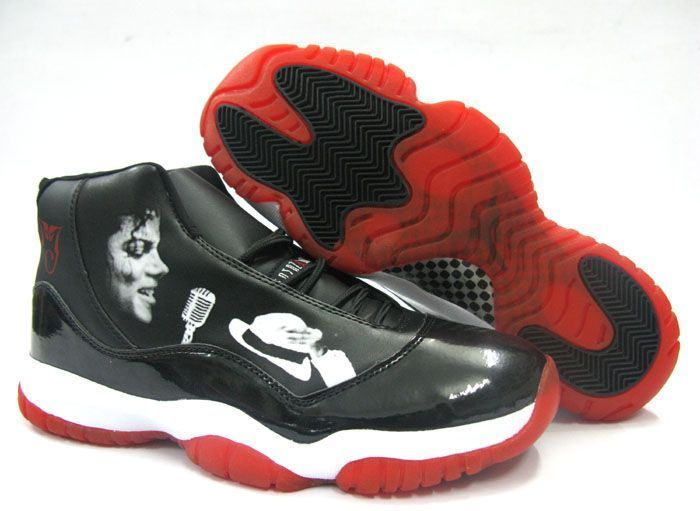 Air Jordan 11 Michael Jackson Black Red $75.59