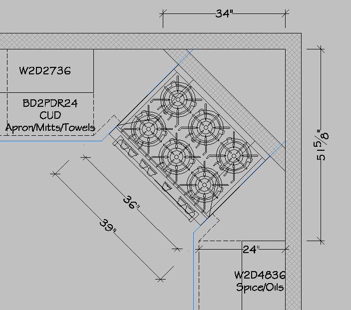 Create A Beautiful Corner Stove Kitchen Design Layout