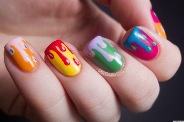 Яркий модный френч ::: onelady.ru ::: #nail #nails #nailart #manicure