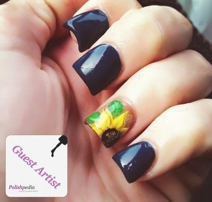 sunflower nail art - Google Search