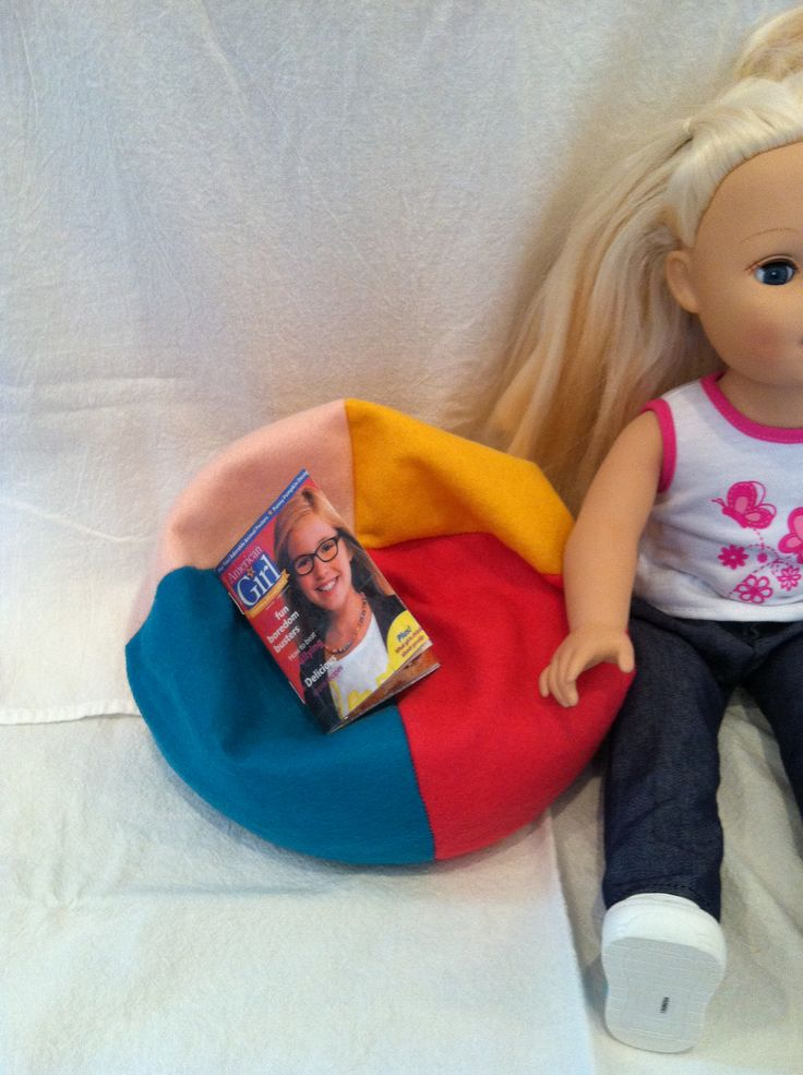 AG Beanbag Chair Took 3 Tries And Finding A Free Pattern On Liberty Jane Patterns ChairAg DollsDoll Toys18 Inch
