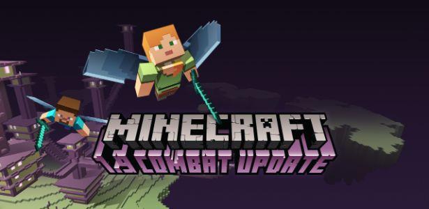 """Combate de """"Minecraft"""" é retrabalhado em nova atualização"""