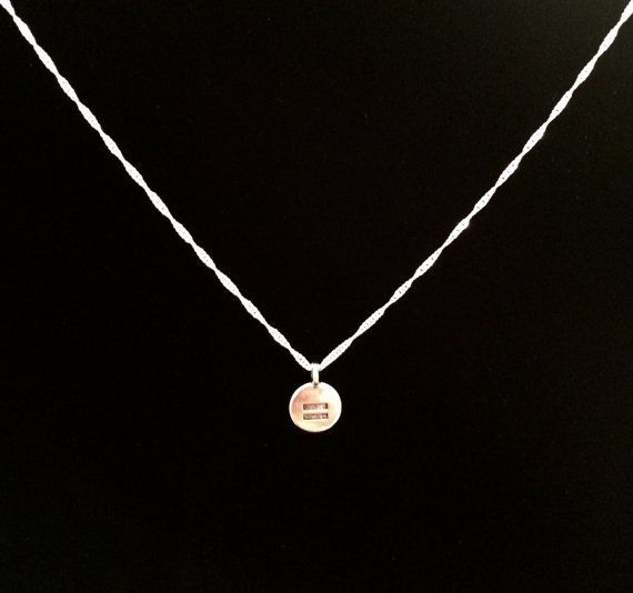 LGBT Equal Rights Necklace by SubmissiveOfferings on Etsy