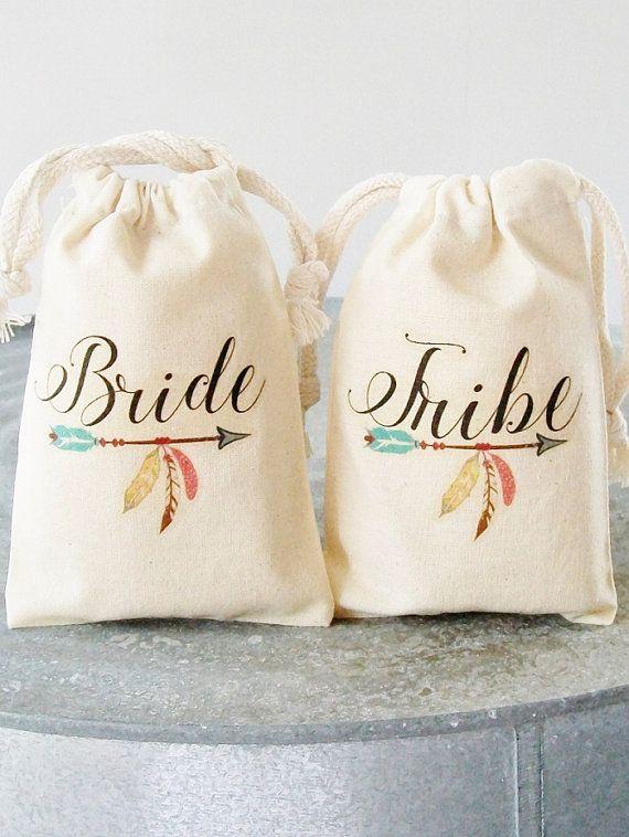 Tribu de novia regalos para dama bolso del por LuckyGirlHairTies