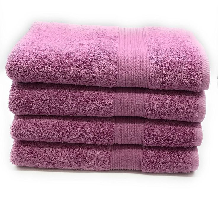Set Of 4 Light Plum Light Purple Color 16X28 Cotton Hand Towel Set Free Shipping