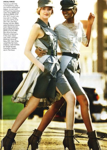 Military Fashion In Vogue March 2010 | Mario Testino #photography