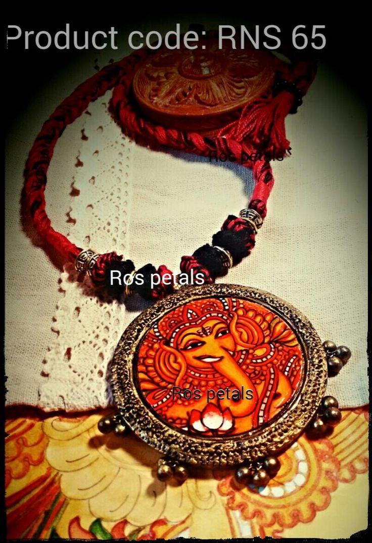 Kerala mural terracotta jewellery