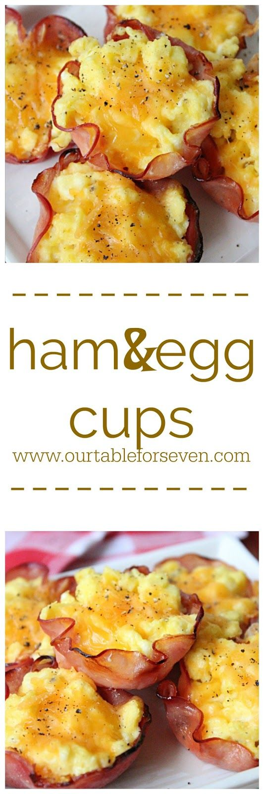 Ham and Eggs Cups from Table for Seven