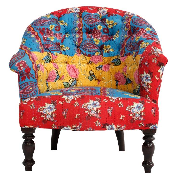 | Cotton Quilt Armchair Multi