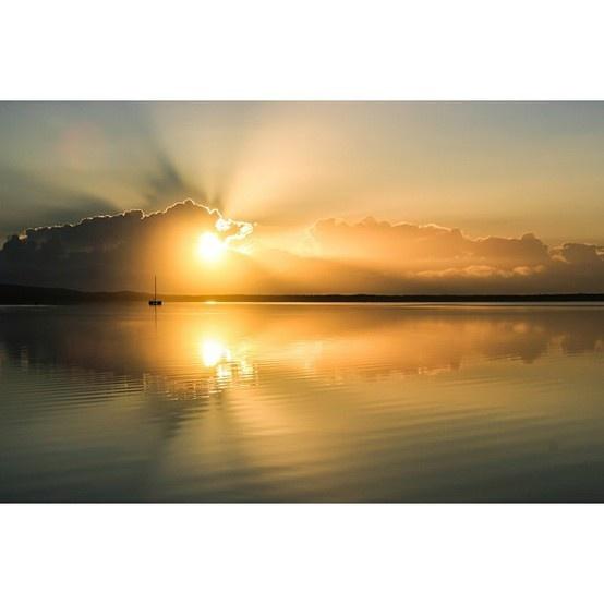 Sunrise at lake cootharaba, Sunshine Coast, #thisisqueensland #instagram photo by @decophotography