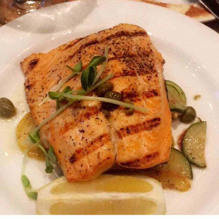 Grilled salmon from Cibo! #restaurants #salmon #fish #healthy #food #foodie