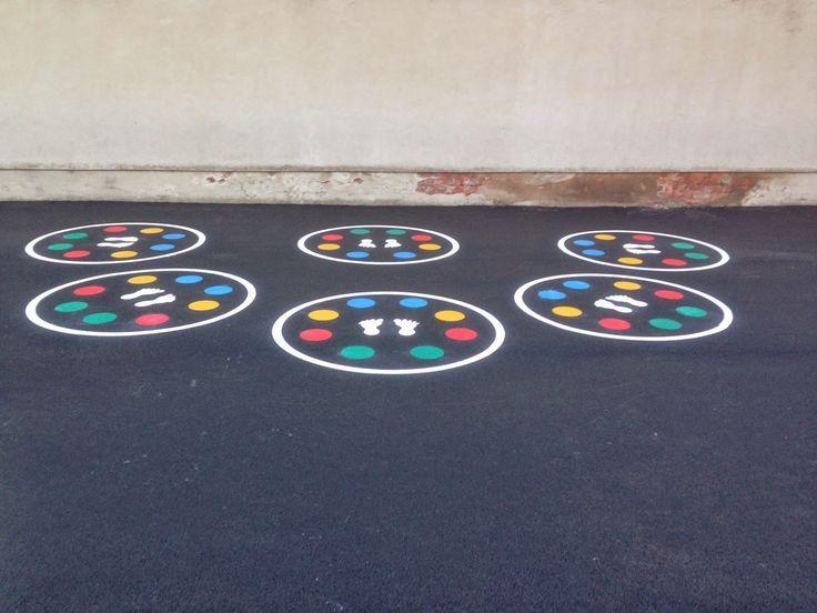 Best Cobb School Playground Images On Pinterest Gymnastics - Playground stencils
