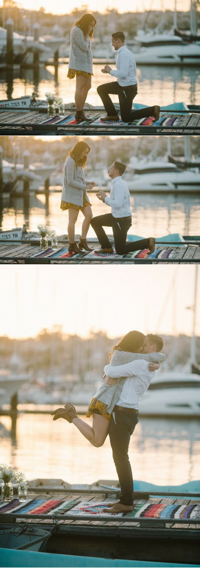 He proposed at sunset by the beach, and it's beyond romantic!