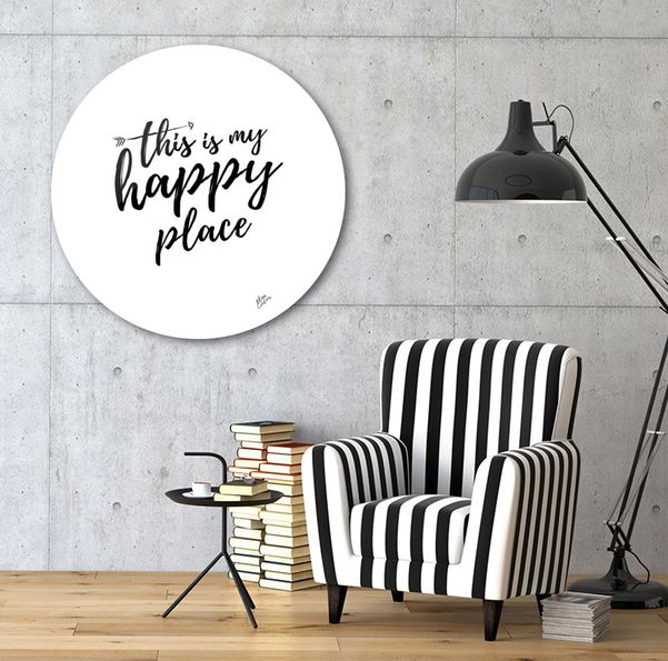 Discover «THIS IS MY HAPPY PLACE», Exclusive Edition Disk Print by Elina Koutsokera - From 190€ - Curioos