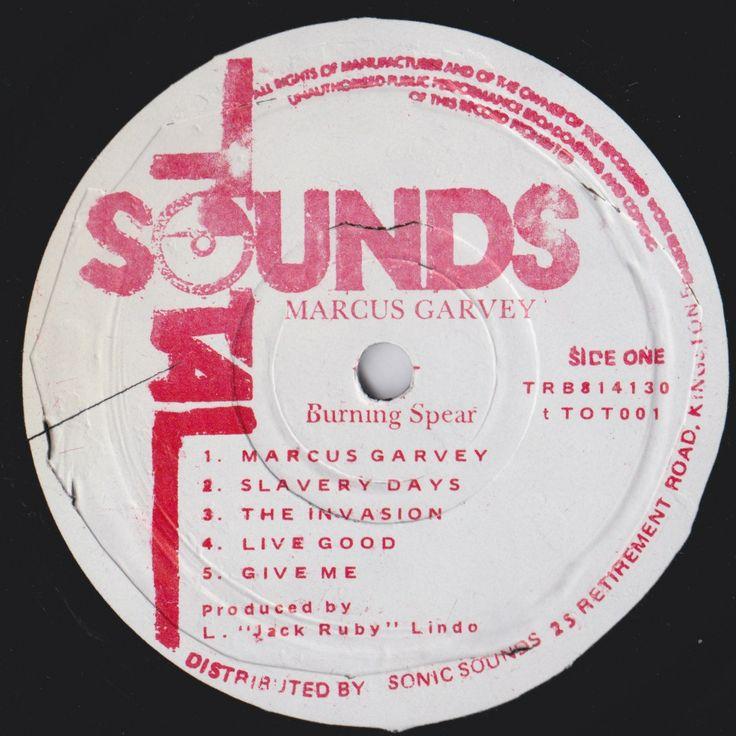 Burning Spear - Marcus Garvey (Label)