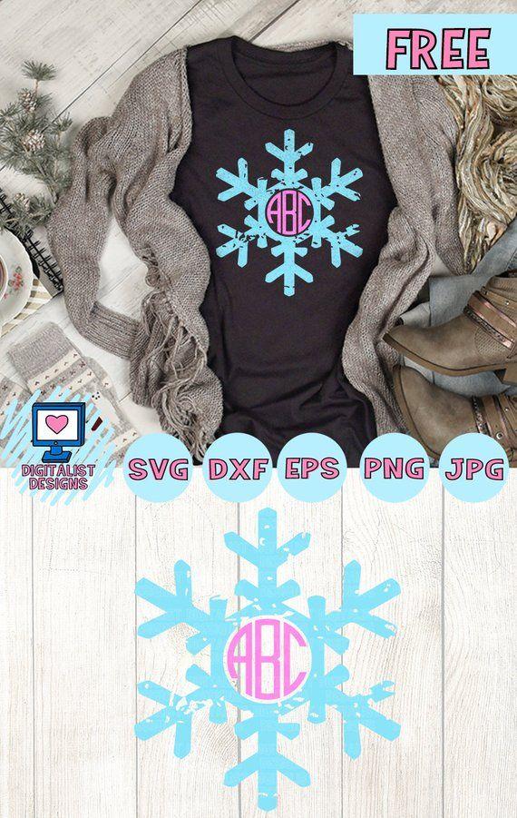 Free SVG file snowflake svg, snowflake monogram svg