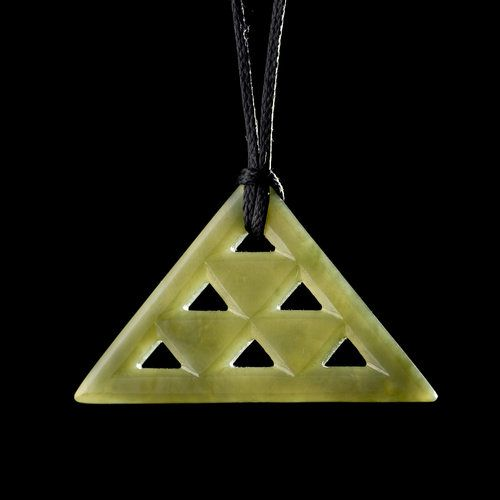Aronui • Triangle Pattern Pendant by Stacy Gordine, Māori artist (NZ70924)    love the whakaaro for this pendant