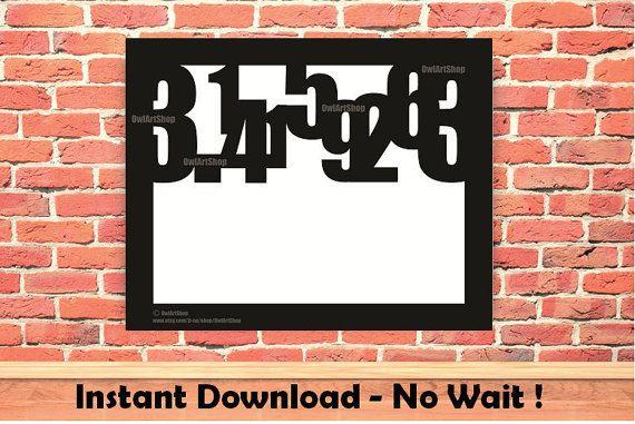 Pi day 2016 Pi symbol Math poster Prinatble poster by OwlArtShop