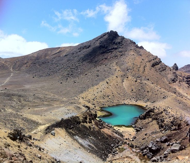 One of the gorgeous Emerald Lakes at the Tongariro Alpine Crossing, New Zealand