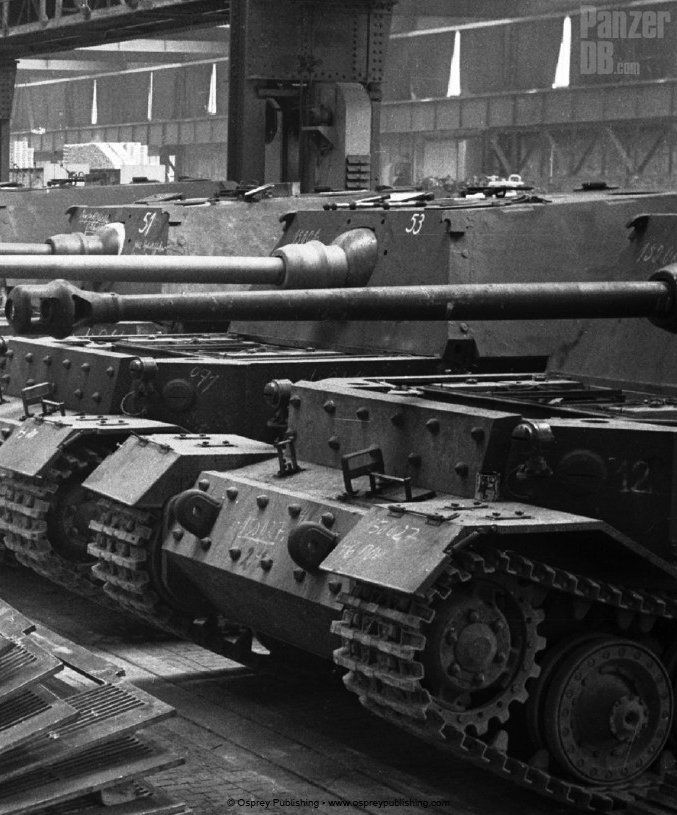 A Panzerjäger Tiger (P) chassis numbered 150027. Delivery of all Ferdinand was one of the few German projects completed ahead of schedule.