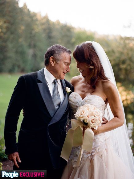 "Remembering Robin Williams: The Actor's Widow Shares Personal Photos of Their Life Together | 'WITH ALL MY HEART'  | ""By early 2008 we were in love and what was clear was that I wanted to be with this man for the rest of my life,"" says Susan. The feeling was mutual. ""He  came into the bedroom and he got down on one knee and he said, 'Will you be Mrs. Robin Williams?' And I said, 'With all my heart, yes. With all my heart.'"" The pair wed Oct. 22, 2011, in Napa Valley, California."