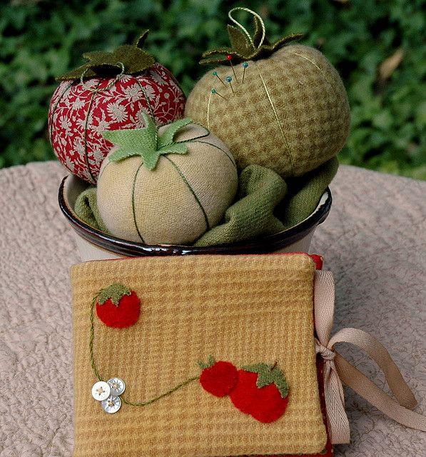 Tomato pincushions and needlecase | Flickr - Photo Sharing!
