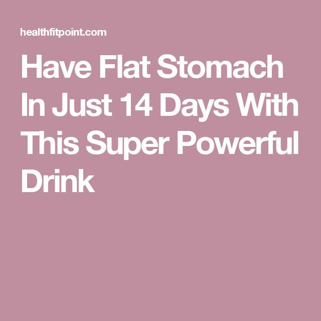 Have Flat Stomach In Just 14 Days With This Super Powerful Drink